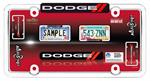 DODGE RAM RED LICENSE PLATE FRAME