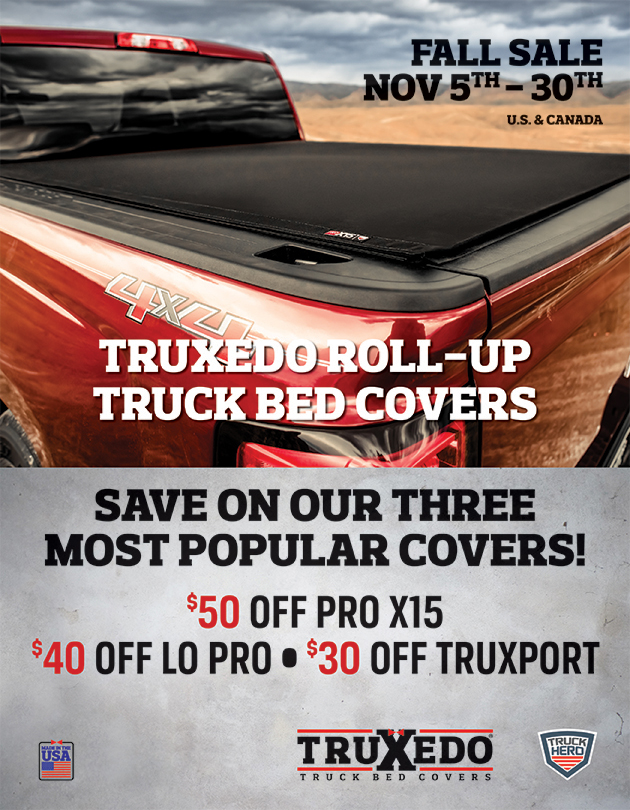 TRUXEDO REBATE - NOVEMBER 2018.  SAVE UP TO $50 ON SELECT COVERS